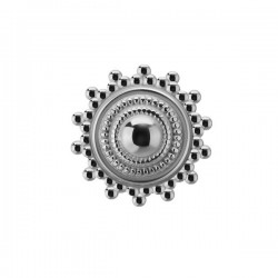 Embout motif ethnique acier 316L, à visser 1,6 mm SC 117