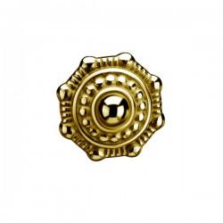 Embout motif ethnique acier doré or fin, à visser 1,6 mm GPSC 118
