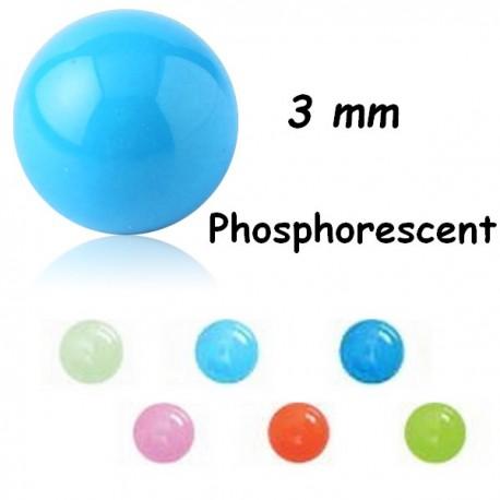 Boule acrylique phosphorescent, à visser 1,2 mm MGDB