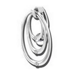 Bijou nombril inversé 3 anneaux avec brillants blanc acier 316L SSJBK 53