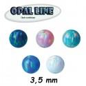 Boule opale synthétique à visser 1,2 mm MOPB