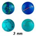 Boule pierre synthétique à visser 1,2 mm MBP 01