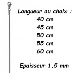 Chaine acier serpent 1,5 mm DB 1404