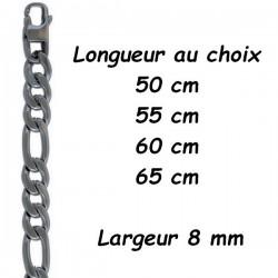 Chaine acier figaro 8 mm DB 1321