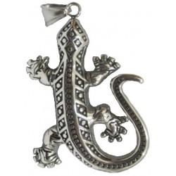 Pendentif salamandre / lézard GM acier HPD64
