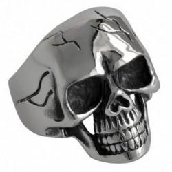 Bague crâne avec fissures acier DB1479