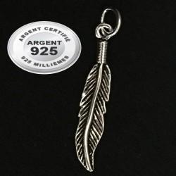 Pendentif plume argent 925 P 726