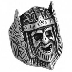 Bague tête de viking acier DB 1989