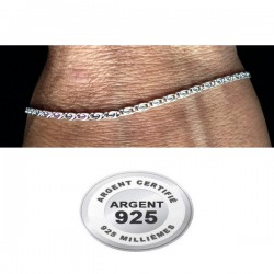 Chaine cheville argent 925 maille motif spirale 2 mm CV 24