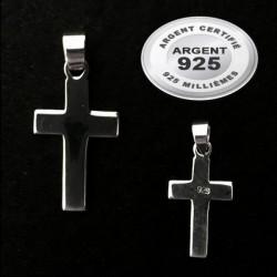 Pendentif croix chrétienne large MM argent 925 P 101