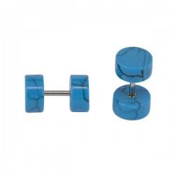 Faux plug en bleu turquoise pour l'oreille FUPL 34