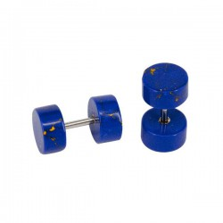 Faux plug en lapis lazuli pour l'oreille FUPL 32