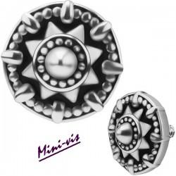 Embout motif ethnique acier 316L pour barre 1,2 mm avec pas de vis interne mini 0,8 mm IA28