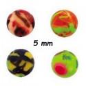 Boule acrylique fluo dessin bariolé, à visser 1,6 mm UPD 66