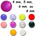 Boule acrylique U.V., à visser 1,6 mm UB