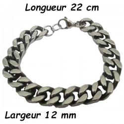 Bracelet chaine acier maille américaine 12 mm HABR08AP