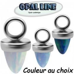 Accessoire charms pic en opale pour personnaliser bijoux en acier chirurgical ABH 17