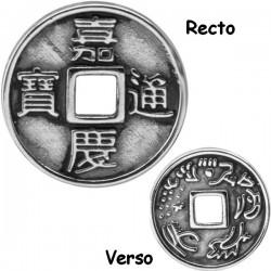 Accessoire charm pièce feng shui pour personnaliser bijoux en acier chirurgical ABH 01