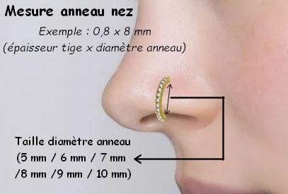 Taille anneau pour le nez