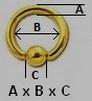 Taille anneau détail