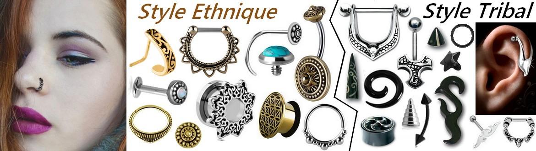 Bijoux de Piercing Style Ethnique et Style Tribal